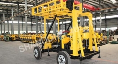 XYX-2 model Multifunctional Trailer mounted portable Water well drilling rig for sale